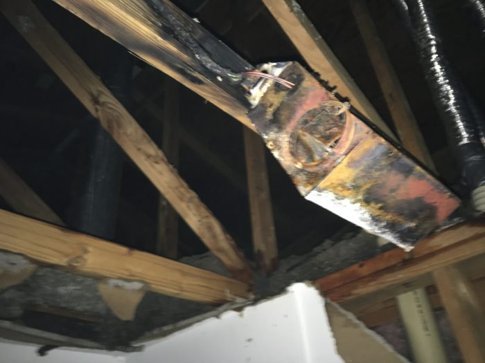 a picture of damage from a fire