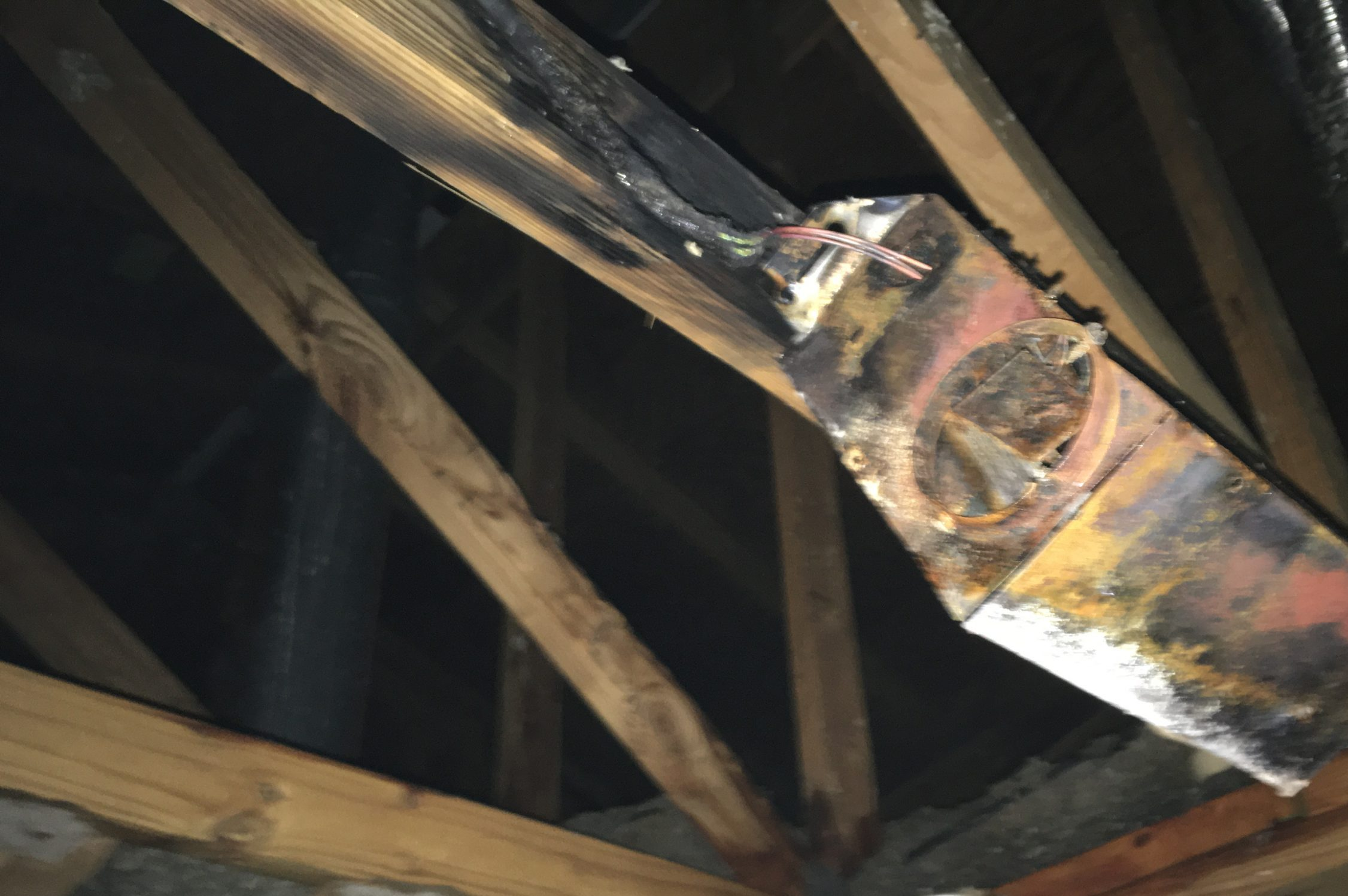 a picture of damage at a commercial water damage project