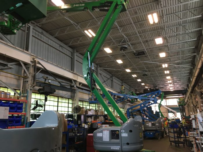 a photo during an industrial commercial fire restoration project