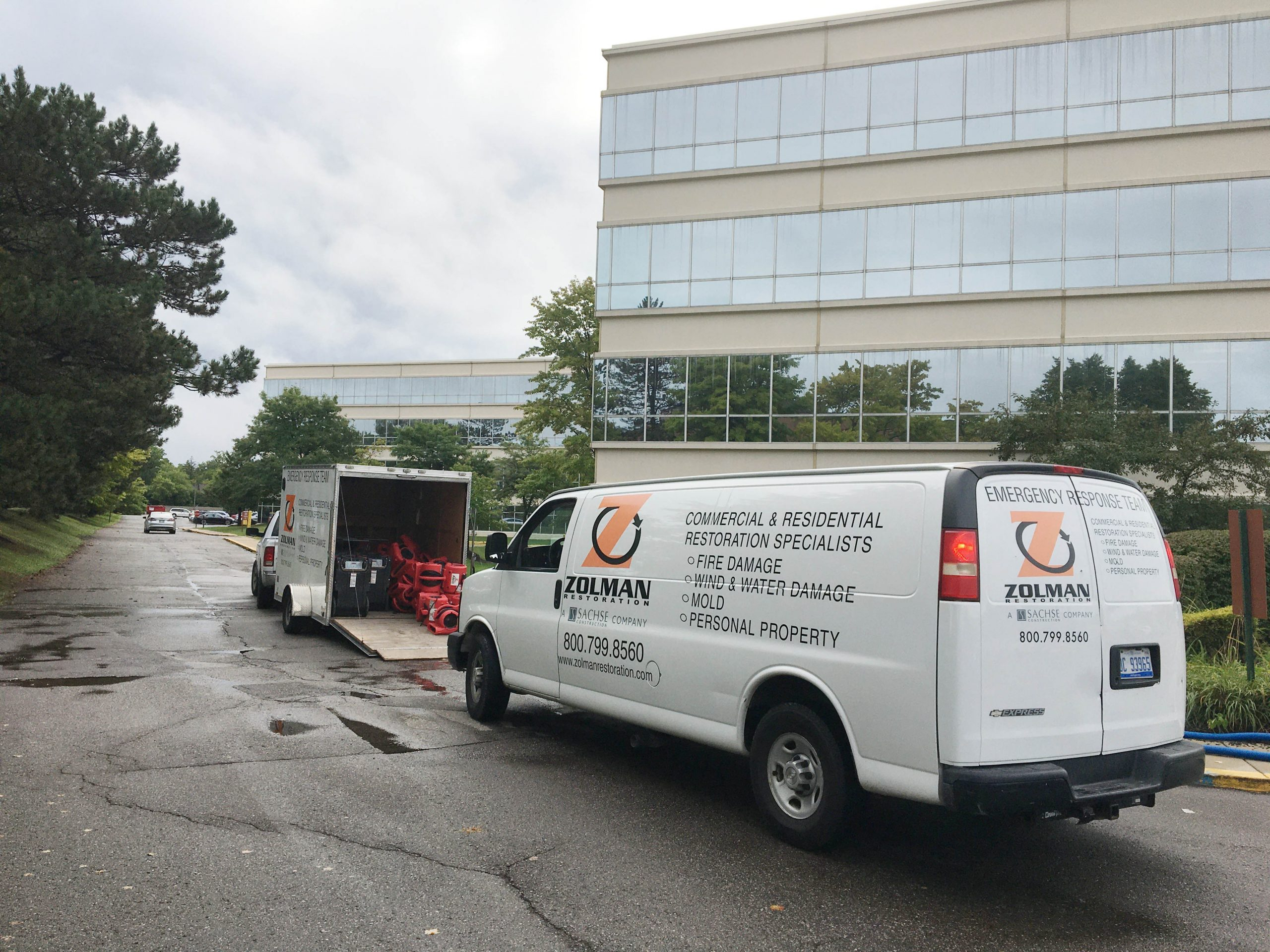 a photo of the zolman team at a commercial property loss